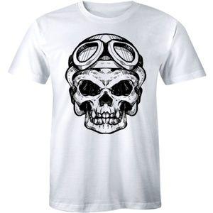 A Head Of Human Skeleton Scary Pilot Skull T-shirt